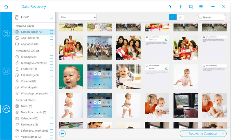 Preview and recover your iPhone photos
