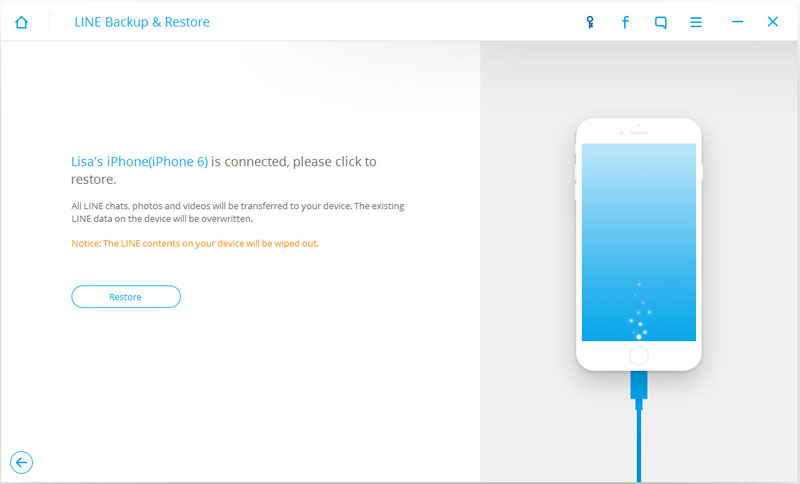 ios line backup and restore