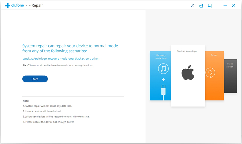iOS-Betriebssystem reparieren
