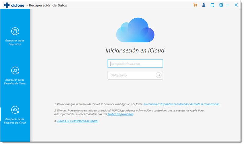 cómo recuperar datos de icloud
