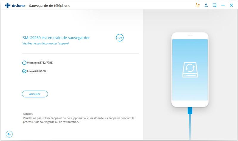 processus de sauvegarde des données android