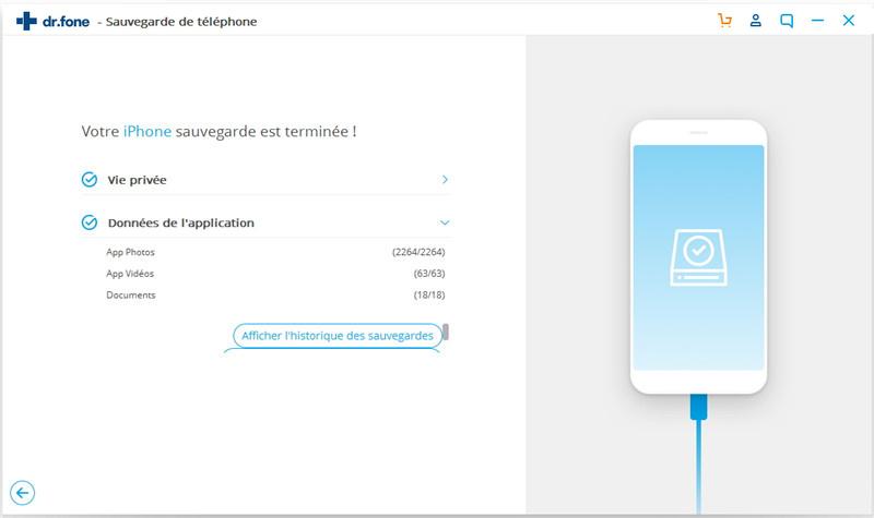 processus de sauvegarde iphone