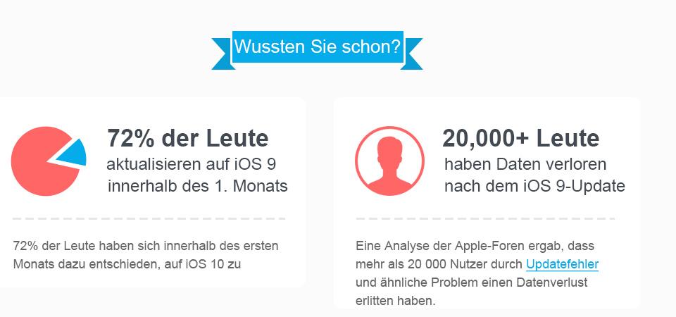 Wie Sie auf iOS 10 upgraden